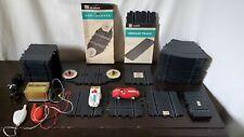 VINTAGE 60's ELDON 1/32 SLOT CAR TRACK LOT w/ TRANSFORMER,CONTROLS & CARS