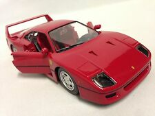 Ferrari F40, Race Play Collectible, Diecast Model Car 1:24 Scale, Burago, Red