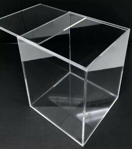 """Acrylic Display Case Small Clear Plastic Box Dust Proof 6.25"""" x 5"""" x 5"""""""