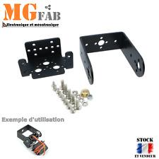 Support kit PAN TILT noir pour servo standard | MG995 Bracket Arduino RC DIY