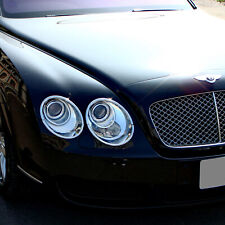 Chrome ABS Headlight Trim Surround Rings For Bentley Continental Flying Spur