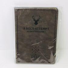 "Deer logo Smart Folio Slim Case Cover for iPad 9.7"" Coffee Color"