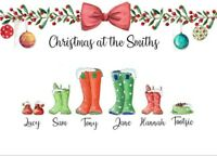 Personalised Christmas Print jumper Wall present Artwork Christmas Gift family