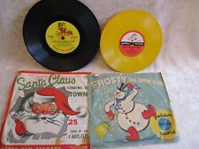 1955 Santa Claus Coming to Town & 1951 Frosty the Snowman 45 rpm Records