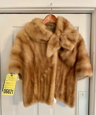 Vintage real beige mink fur cape -10% of purchase price donated to charity!