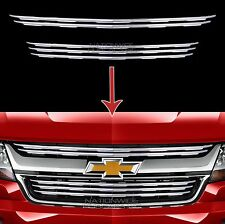 2015-2017 Chevy Colorado Chrome Snap On Grille Overlays 5 Front Grill Bar Covers