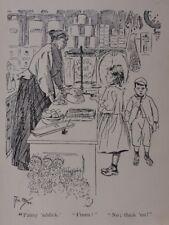 """Londres & rimé vie enfant en boutique """"penny addick"""" finen? """"antique punch Cartoon"""