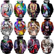Womens/Mens 3D Print Harley Quinn Suicide Squad Joker Casual Hoodie Sweatshirt