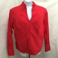 Nexx 2X Top Red Pintuck Button French Cuff Long Sleeve Plus Size Shirt
