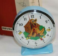 Rare Mint Animated Pluto Disney 1964 Metal Clock Reveil Bayard France Vtg