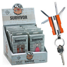 ★COLTELLINO SURVIVAL MULTIUSO CHILLING TIME APRIBOTTIGLIA SEGHETTO CAMP KNIFE★