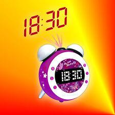 Soundmaster UR140Lila Kids Radiowecker Uhrenradio mit Projektion, Dimmer & Licht