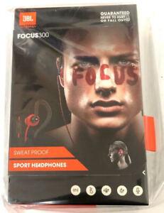 New JBL Focus 300 Behind the Ear Sport Sweat Proof Headphones Red Black