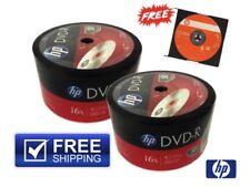 100-PACK 16X HP Logo Top Blank DVD-R DVDR Disc 4.7GB + 1 FREE HP-CD-RW Disc