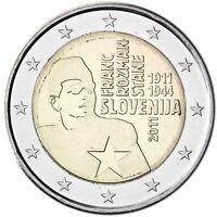 Slowenien 2 Euro 2011 Franc Rozman Stane Gedenkmünze bankfrisch