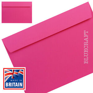 40 pack x C5 Shocking Pink Luxury 120gsm Envelopes - 162 x 229mm - 6 x 9 inches