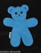 Peluche Doudou Ours Bleu Articulé IKEA UNICEF Blue Bear 33 Cm TTBE
