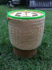 Kratip Thai Handicraft Sticky Rice Bamboo Basket Box container #2