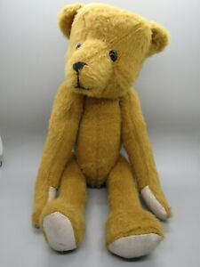 """Lois Beck Original 15"""" Mohair Humpback Jointed Bear w/Leather Pads & Glass Eyes"""