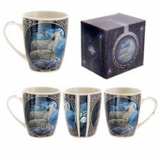 Tazza mug colazione in ceramica con stampa Coppia di lupi che ululano al
