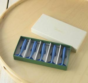 Japanese Miyama Blue Whale Chopsticks Stand 5pc Gift Set 04262