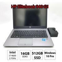 HP EliteBook 840 Portable Ultrabook Laptop i7 4600u 16GB DDR3 512GB SSD 14 inch