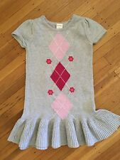 GYMBOREE SMART AND SWEET  GRAY ARGLE SWEATER DRESS  GIRLS Size:3 GUC