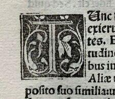1498 LARGE FRAGMENT of 11 LEAVES - COMMENTARIA IN BIBLIAM, ORIGINAL Incunabula