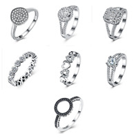 Sterling Silver Womens Fashion Jewelry Wedding Engagement  Rings