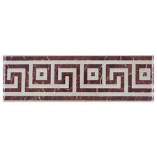 CEDON listello da bagno L BG marrone e bianco in ceramica 33x10cm