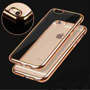 NEW Shockproof Silicone Rubber Clear Case Cover For Apple Iphone 6/6s/plus