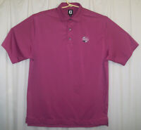FootJoy Golf Polo Shirt Men's XL Purple Black Striped Short Sleeve Fox Hills