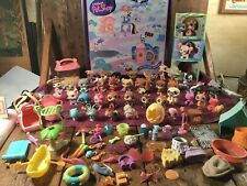 Huge Lot Of LPS Littlest Pet Shop Dogs Cats Monkeys, Bunnies, Frogs, Accessories