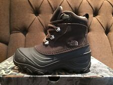 The North Face Youth Chilkat Lace Snow Winter Waterproof Boots UK 13 Brown BNIB