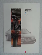 BMW M3 Saloon brochure 1994. E36. Specifications / Equipment