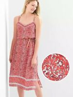 NEW Gap Double Strap Cami Dress Red Floral Print / Платье.. XS.