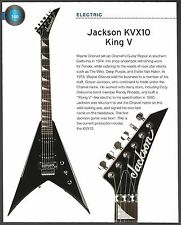 Jackson KVX10 King V + 1994 Ibanez Steve Vai JEM555 guitar 6 x 8 article pinup