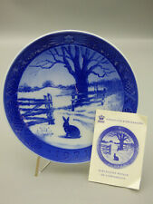 Royal Copenhagen Hare in Winter 1971 Limited Edition Christmas Collector Plate