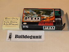 P.T.O. Pacific Theater of Operations Super Nintendo Snes Box Only No Game