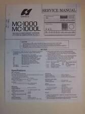 Sansui Service Manual~Mc-1000/1000L Cd Cassette Deck~Original