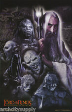 2 POSTERS:MOVIE REPRO:  LORD OF THE RINGS - SARUMAN WITH ORCS  #3523    LP33 i