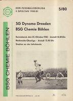 OL 80/81 BSG Chemie Böhlen - SG Dynamo Dresden