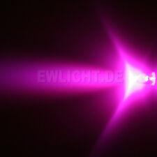 20 LEDs 5mm Pink LED 3000 mcd Pink including resistors ULTRA BRIGHT TOP New