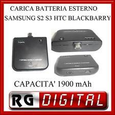 CARICA BATTERIA PORTATILE 1900mAh SAMSUNG GALAXY S3 S2 S4 EMERGENZA LINQ LI-1900