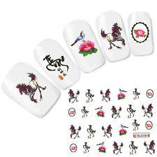 TATTOO unghie Sticker Adesivo Giappone CAVALLO HORSE NAIL ART UNGHIE PIEDI