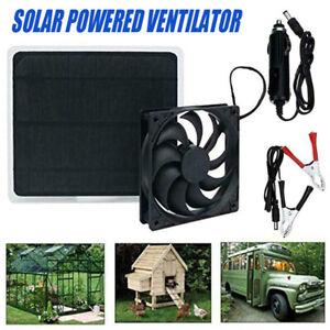 Ventilateur solaire 12V 10W pour poulailler de chien de compagnie de serre