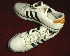 Adidas Originals White Synthetic Leather Sneakers w/Black Stripes_Sz.13_#G31373