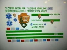 Yellowstone Park EMS Ambulance Decals 1:24 Custom