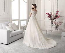 Demetrios 821 Wedding Dress Ivory Size 16