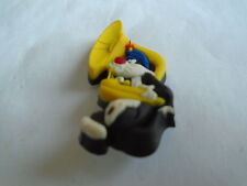 Sylvester The Cat With A Trombone Pin Badge In Plastic